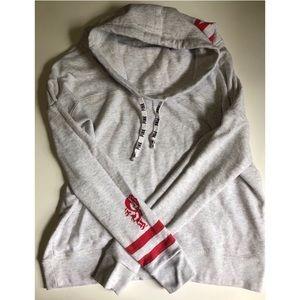 PINK - VS OSU Buckeyes cowl neck sweatshirt